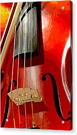 Violin And Bow Digital Painting Acrylic Print
