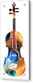 Violin Art By Sharon Cummings Acrylic Print by Sharon Cummings