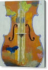 Violin Butterflies Acrylic Print by Michael Creese