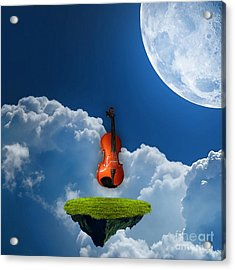 Violin In Heaven Acrylic Print by Marvin Blaine