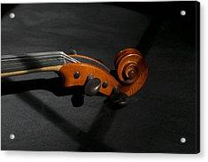 Violin In Shadow Acrylic Print by Mark McKinney