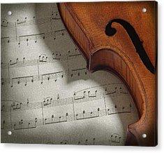 Violin Acrylic Print by Krasimir Tolev