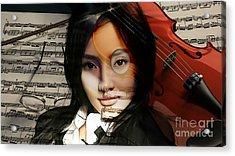 Violin Painting Acrylic Print by Marvin Blaine