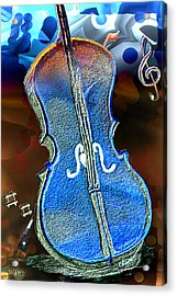 Acrylic Print featuring the painting Violin Solo by Paula Ayers