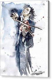 Violine Player 1 Acrylic Print by Yuriy  Shevchuk