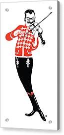 Violinist Acrylic Print by Gary Grayson