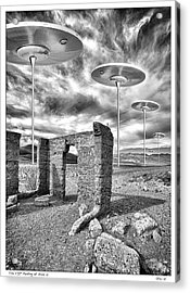 Vip Parking At Area 51 Acrylic Print