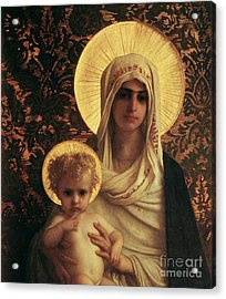 Virgin And Child Acrylic Print by Antoine Auguste Ernest Herbert
