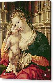 Virgin And Child Acrylic Print by Jan Gossaert