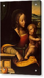 Virgin And Child Acrylic Print by Joos van Cleve