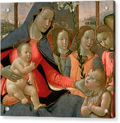 Virgin And Child With St John The Baptist And The Three Archangels Acrylic Print