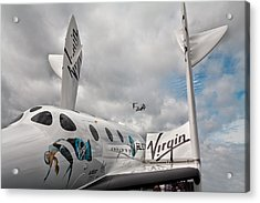 Virgin Galactic Vss Enterprise With Osprey Acrylic Print by Shirley Mitchell