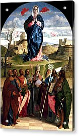 Virgin In Glory With Saints 1515 Giovanni Bellini Acrylic Print by Karon Melillo DeVega