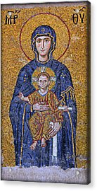 Virgin Mary And Christ Child Acrylic Print by Stephen Stookey
