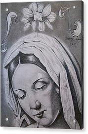 Virgin Mary Acrylic Print by Anthony Gonzalez