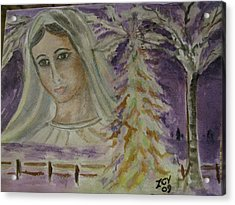 Virgin Mary At Medjugorje Acrylic Print