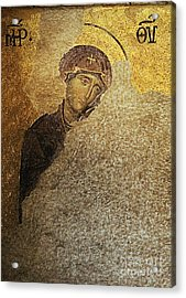 Virgin Mary-detail Of Deesis Mosaic  Hagia Sophia-day Of Judgement Acrylic Print