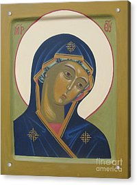 Virgin Mary Icon Acrylic Print by Seija Talolahti