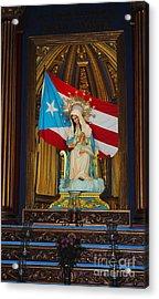 Virgin Mary In Church Acrylic Print