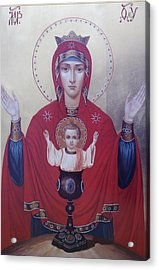 Virgin Mary-inexhaustible Cup Acrylic Print by Janeta Todorova