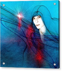 Virgin Mary Acrylic Print by Reno Graf von Buckenberg