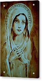 Acrylic Print featuring the painting Virgin Mary by Steven Ponsford