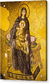 Virgin Mary With Baby Jesus Mosaic Acrylic Print