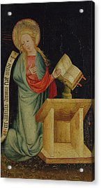 Virgin Of The Annunciation, From The Harvester Altar, C.1410 Tempera On Oak See Also 145253 Acrylic Print by Master Bertram of Minden