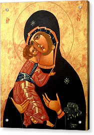 Virgin Of Vladimir Acrylic Print by Joseph Malham