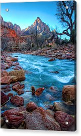 Virgin River Before The Watchman Acrylic Print by Laura Palmer