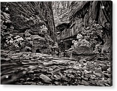 Virgin River Calm Acrylic Print by Juan Carlos Diaz Parra
