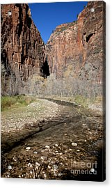 Virgin River Cliffs Acrylic Print
