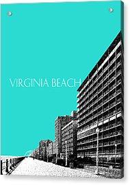 Virginia Beach Skyline Boardwalk  - Aqua Acrylic Print