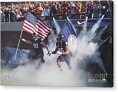 Virginia Cavaliers Football Team Entrance Acrylic Print by Jason O Watson