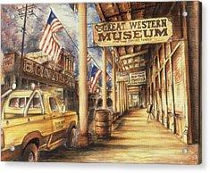 Virginia City Nevada - Western Art Acrylic Print by Art America Gallery Peter Potter