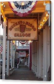 Virginia City Signs Acrylic Print