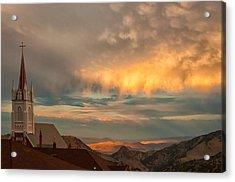 Virginia City Sunset Acrylic Print by Janis Knight