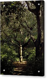 Acrylic Print featuring the photograph Virginia Dare Statue by Greg Reed