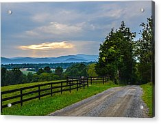 Virginia Road At Sunset Acrylic Print by Alex Zorychta