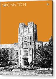 Virginia Tech - Dark Orange Acrylic Print by DB Artist