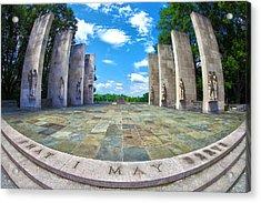 Virginia Tech War Memorial Acrylic Print by Mitch Cat