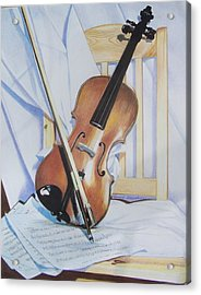 Virginia's Violin Acrylic Print by Constance Drescher