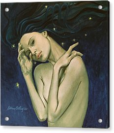 Virgo  From Zodiac Series Acrylic Print by Dorina  Costras