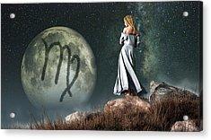 Virgo Zodiac Symbol Acrylic Print by Daniel Eskridge