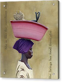 Virtuous Woman  Acrylic Print by Hannah  Harris