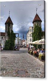Viru Gate Tallinn Estonia Acrylic Print