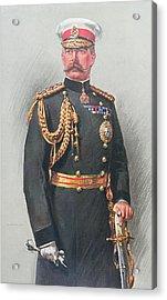 Viscount Kitchener Of Khartoum Acrylic Print by Walter Wallor Caffyn