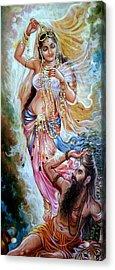 Vishwamitra Menaka Acrylic Print by Mayur Sharma