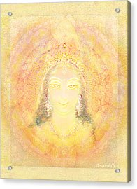 Vision Of A Goddess - A Being Of Light Acrylic Print by Ananda Vdovic
