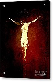Vision Of Christ Acrylic Print by J Jaiam